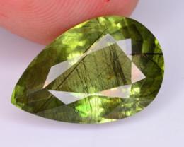 6.25 ct natural rutile peridote gemstone