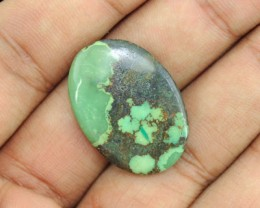 Genuine 24.50 Cts Oval Shaped Untreated Turquoise Cab