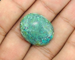 Genuine 24.50 Cts Untreated Turquoise Cab