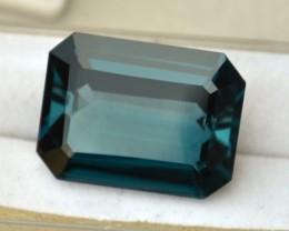 24.77 Carat Octagon Cut Fine London Blue Topaz