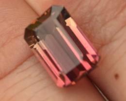6.16 Carat Bicolor Pink and Yellow Tourmaline