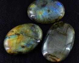 Genuine 165.45 Cts Oval Shaped Blue Color Change Labradorite Lot