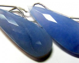 40 CTS CHALCEDONY DROPS PAIR DRILLED NP-1929