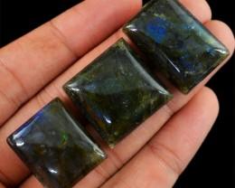Genuine 130.80 Cts Untreated Blue Color Change Labradorite Lot