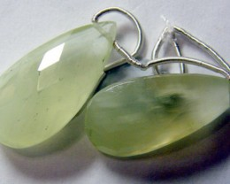 PREHNITE BEADS DRILLED PAIR 26 CTS NP-1930
