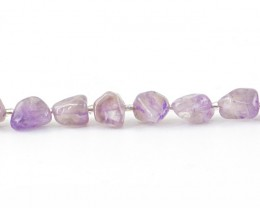 Genuine 170.00 Cts Purple Amethyst Beads 14.5 Inches Strand