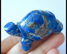 277.5Ct Natural Lapis Lazuli Gemstone Turtle Carving,Turtle Statues