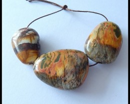 127.5Ct Natural Multi Color Picasso Jasper Beads For Necklace Design