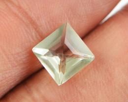 Genuine 1.85 cts Untreated Faceted Prasiolite Gemstone