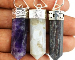 Natural 19.00 Gms Healing Point Pendant Lot