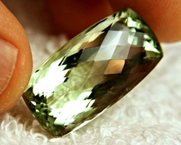 31.62 Carat VVS Prasiolite (Green Amethyst) - Gorgeous