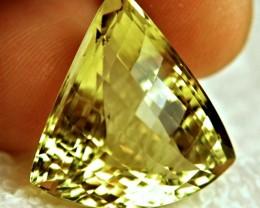 46.84 Carat African VVS Trillion Lemon Quartz - Gorgeous