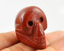 Genuine 91.00 Cts Red Jasper Hand Carved Skull
