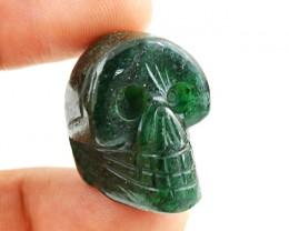 Genuine 61.50 Cts Green Jade Hand Carved Skull
