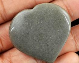 Genuine 77.50 Cts Heart Shaped Grey Jasper