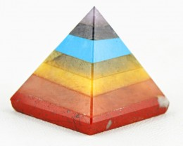 Genuine 99.00 Cs Seven Chakra Pyramid