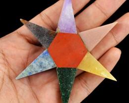 Genuine 220.00 Cts Seven Chakra Healing Star