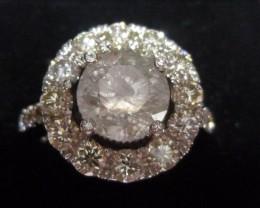 3.62ct 14K White Gold Diamond ring