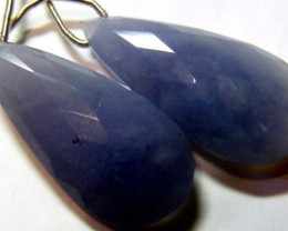 CTS CHALCEDONY DROPS PAIR DRILLED NP-1981