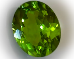 3.14CT BRIGHT LIME GREEN PERIDOT - AMAZING NO RESERVE AUCTION!