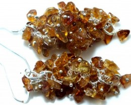 56 CTS CITRINE EARRINGS GRAPE DESIGN SG-2055