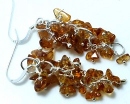 45 CTS CITRINE EARRINGS GRAPE DESIGN SG-2057