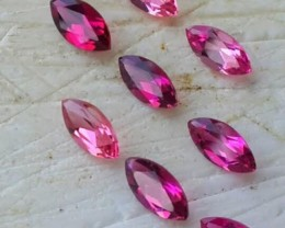 2.30 CTS BEAUTIFULL RARE NATURAL PINK TOURMALINE MOZAMBIQUE 9 PCS