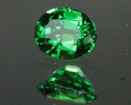0.76 ct TSAVORITE GARNET - MASTER CUT! VVS! PERFECT COLOR!