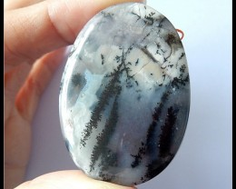 110.5Ct Natural Dendritic Agate Gemstone Pendant Bead