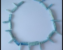 40.5CM Natural Kyanite Gemstone Beads Strand ,Kyanite Bead For Necklace Des