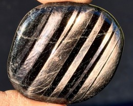 192cts Rare Hypersthene Polished Flat Stone from Canada — NR Auctions
