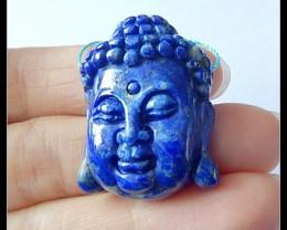 67.5Ct Natural Lapis Lazuli Buddha Head Pendant Bead