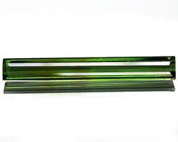 1.26 Cts Natural Neon Green Tourmaline Octagon Cut Mozambique Gem NR
