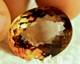 39.64 Carat VVS1 Brazil Fancy Golden Brown Topaz