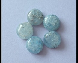 5 PCS  Blue Kyanite Gemstone Cabochons,12.5ct