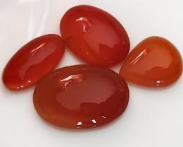 50.50CT 4 gem parcel of Carnelian gems - AMAZING NO RESERVE AUCTION!