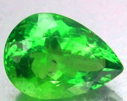15.54 Cts Rare Natural Top Green Fluorite Pear Cut Afghanistan Gem