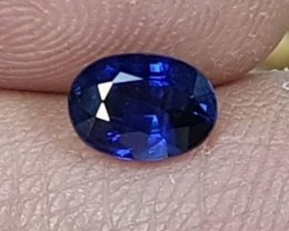 1.10cts,  Sapphire,  Rich Saturated Pure Blue,  VVS1 Eye Clean,  Heat Only