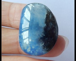 31.5Ct Blue Opal,Lapis Lazuli Intarsia Gemstone Cabochon