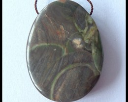 83.5Ct Natural Mushroom Jasper Pendant Bead