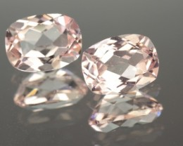 2.62 CT MORGANTE - MATCHING PAIR!  VVS!  CALIBRATED!