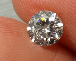 Certified Natural 0.57ct Round White Diamond G Color