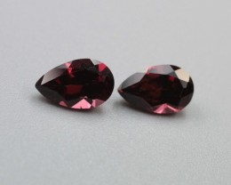 RHODOLITE GARNET PEAR SHAPED PAIR