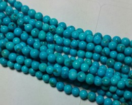 "SALE 16"" 3mm Round ORGANIC ARIZONA TURQUOISE TUR007 beads"