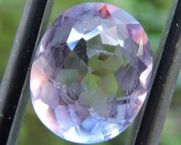 3.30ct AMETHYST OVAL FACETED GEMSTONE FROM ZAMBIA