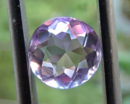 2.10ct AMETHYST ROUND FACETED GEMSTONE FROM ZAMBIA