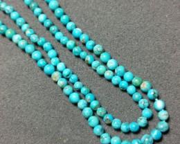 "SALE 16"" 3mm Round ORGANIC ARIZONA TURQUOISE TUR007 beads"