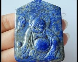 167.5Ct Natural Lapis Lazuli Gemstone Buddha Carved Pendant(D0066)