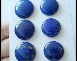 6pcs Natural Lapis Lazuli Gemstone Cabochons Parcel