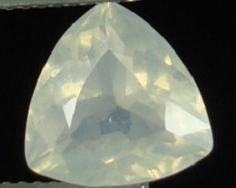 BLUE MOONSTONE QUARTZ GEMSTONE .75 CTW  TRILLION CUT